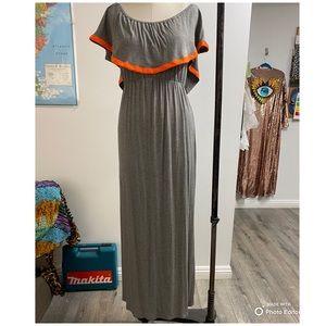 Gray off shoulder dress
